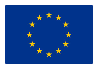 Europe flag correctly and proportional with round corner