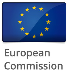 European Commission standard proportional sign - glossy design