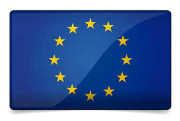 Europe union flag correctly and proportional with round corner