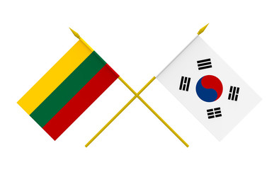 Flags, Republic of Korea and Lithuania