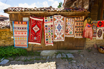 Street vernissage in the Bulgarian village of Zheravna