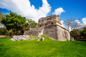 Part of El Caracol, observatory near Chichen Itza