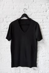 Black t-shirt on the wall