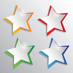 Modern Star Design Elements Icon Set