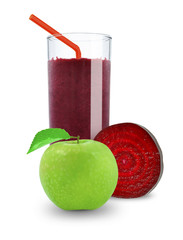 juice of apples and beetroot