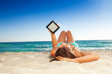 fun reading on the beach