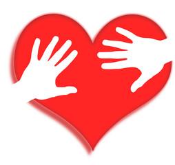 la main sur le coeur