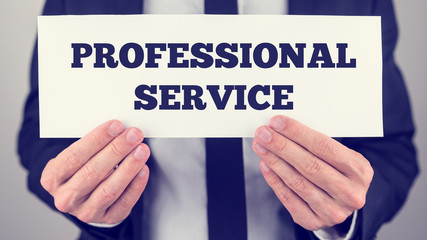 Professional service sign
