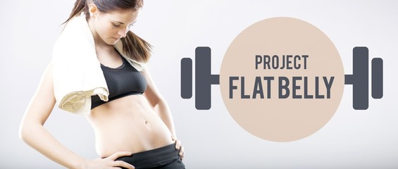 Project flat belly slim woman after training