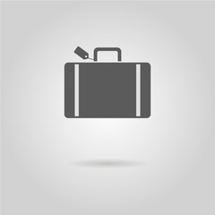luggage icon with shadow
