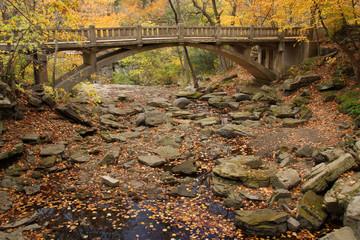 Minneopa Falls Dry In Autumn