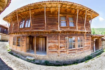 Rustic restaurant in the village of Zheravna