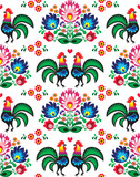 Seamless Polish folk art pattern - Wzory Lowickie, wycinanka - 66779550