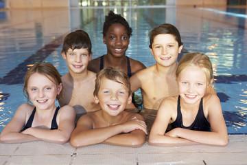 Children in swimming pool