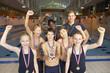 Winning swimming team