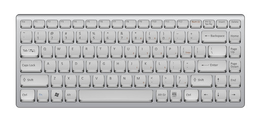 Illustration of realistic keyboard