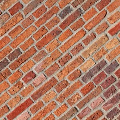 Diagonal bricks background