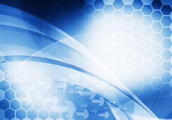blue digital graphic backdrop