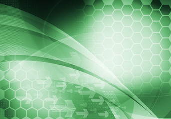 green digital graphic backdrop