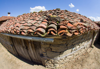Cowshed in the Bulgarian mountain village