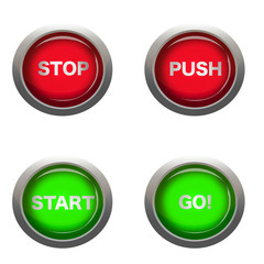 buttons with action words