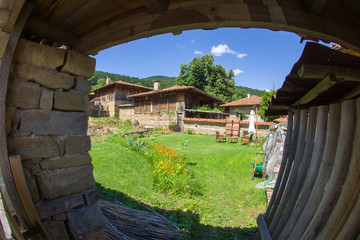Look in Bulgarian rural yard