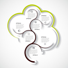 Abstract infographic template, seven option