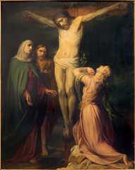 Brussels - The Crucifixion in Notre Dame de la Chapelle church