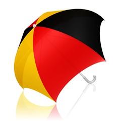 Schirm in den Farben der deutschen Flagge