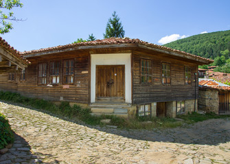 House on a hillside in the Balkans