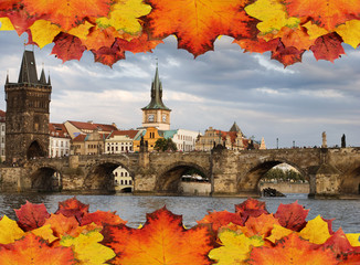 Prague in autumn concept