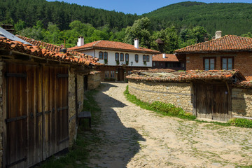 Street leading downhill in Balkan village