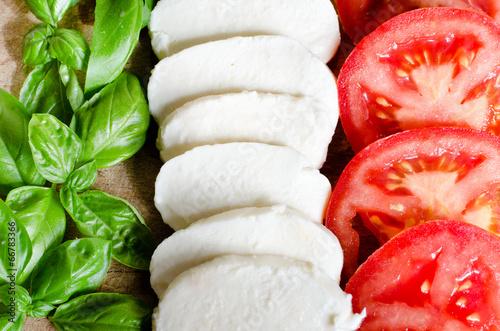 Plexiglas Voorgerecht italian food