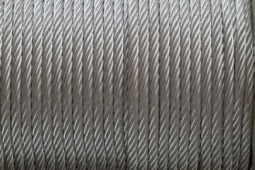 Background of metal cable