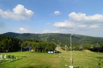 ski resort in the  summer