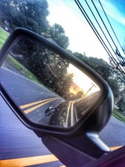 Sunset in the mirror
