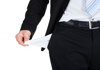 Businessman Showing Empty Pocket