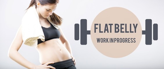 Flat belly work in progress slim woman