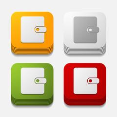 square button: purse
