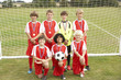 Winning junior football team portrait