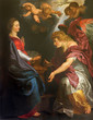 Mechelen - the Annunciation by Peter Paul Rubens