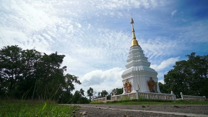 HD Time Lapse White Pagoda wide