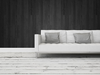 Black and white interior decor background