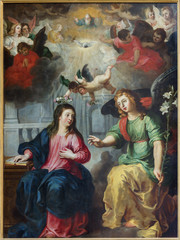 Antwerp - Annunciation. Paint by Hendrick Van Balen - cathedral