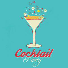 cocktail party invitation - poster