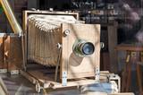 Vintage wooden camera