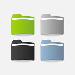 realistic design element: folder