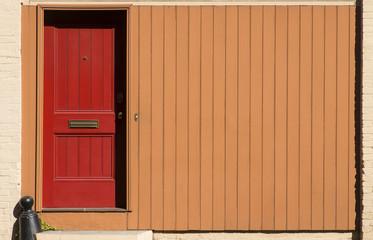Red Door - Orange Wall