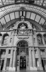 Antwerp - The Indoor of The Central Station.