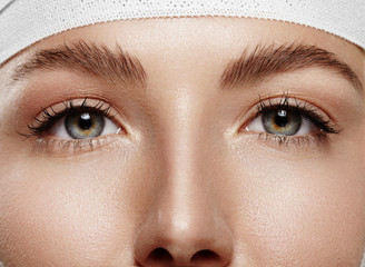 closeup woman eyes